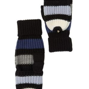 Kate Spade Wide striped mittens
